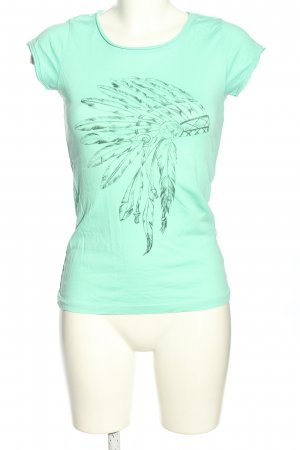 Aiki T-Shirt turquoise-black casual look