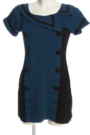 Aiki Tunique-blouse bleu-noir style décontracté