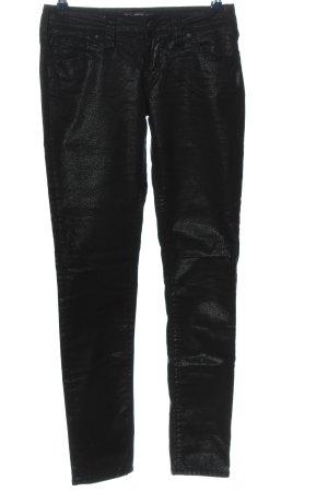 Aiko Pantalon taille basse noir style décontracté