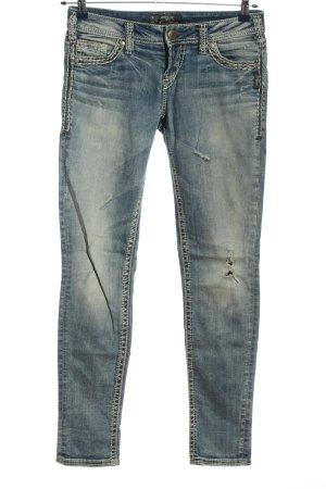 Aiko Jeans cigarette bleu style décontracté