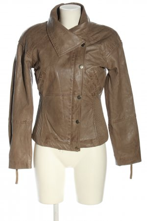 Aim Leather Jacket brown business style