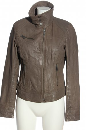 Aim Leather Jacket bronze-colored casual look