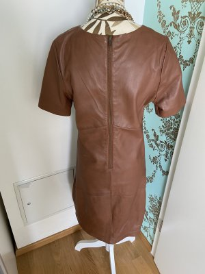 Aim Leather Dress cognac-coloured