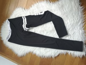 Aim'n Sportbroek wit-zwart