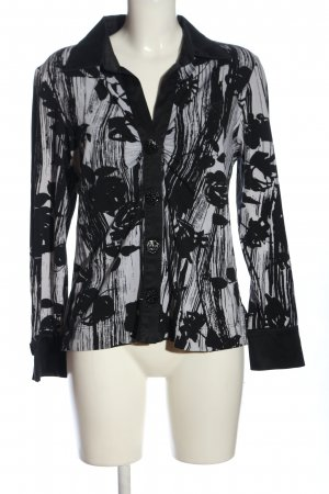 Air Field Shirt Blouse black-light grey abstract pattern business style