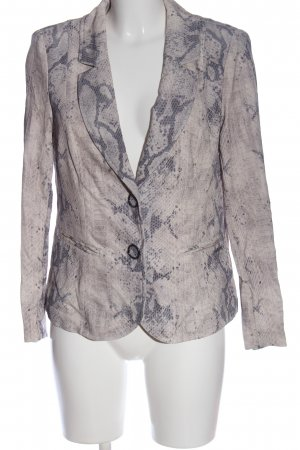 Air Field Blazer corto rosa-gris claro estampado de animales look casual