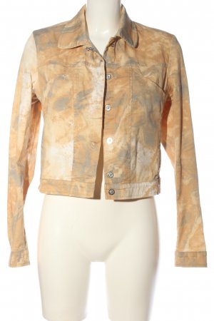 Air Field Short Jacket nude abstract pattern casual look