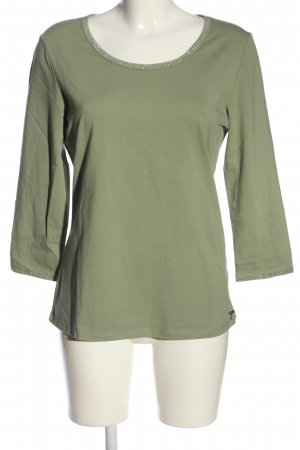 Air Field Blusa de manga larga caqui look casual