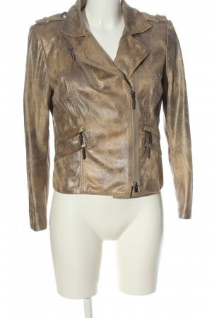 Air Field Faux Leather Jacket brown casual look