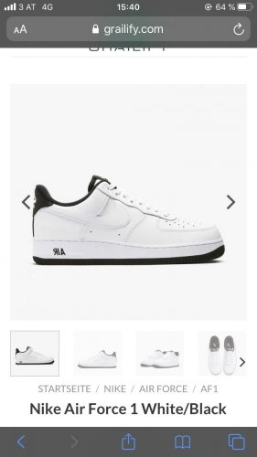 Air Force 1, White/Black, Gr.40