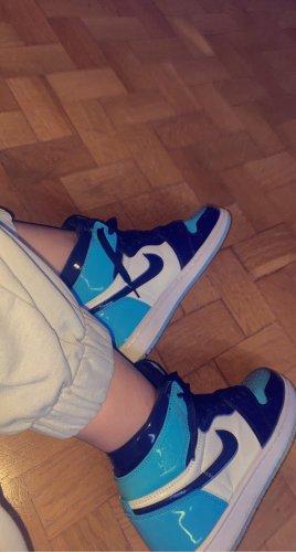 Nike Wysokie trampki biały-błękitny