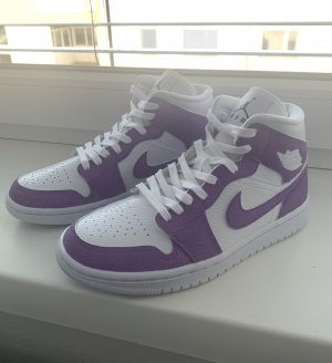 Air Jordan Sznurowane trampki biały-jasny fiolet