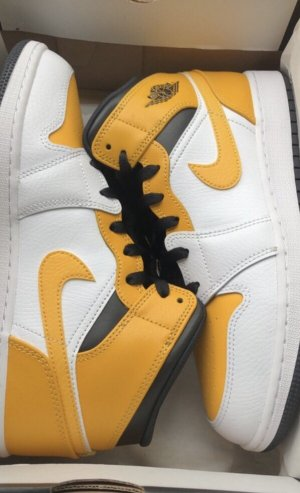 Air Jordan Sznurowane trampki biały-żółty