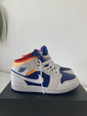 Air Jordan 1 Mid White/Laser Orange