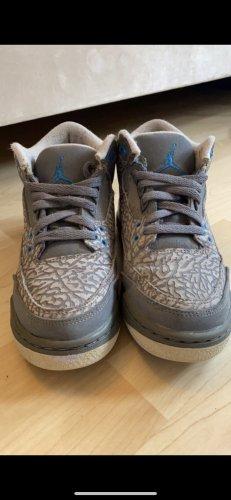 Air Jordan Sznurowane trampki szary-baby blue
