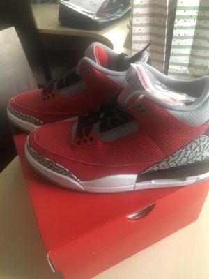 Air Jordan Sznurowane trampki czerwony-szary