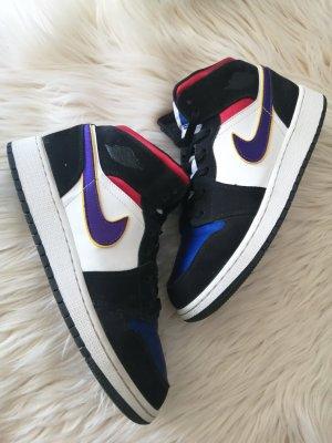 Air Jordan Wysokie trampki biały-czarny
