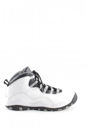 Nike Zapatillas altas blanco-negro estilo deportivo
