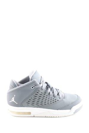 Air Jordan Basket à lacet gris clair-blanc style décontracté