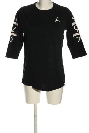 Air Jordan T-Shirt black printed lettering casual look