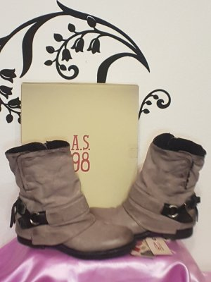 Air Step Low boot gris cuir