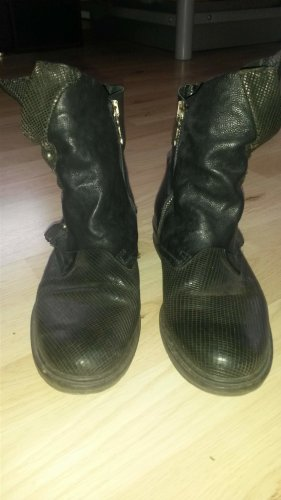 Air Step Booties black leather