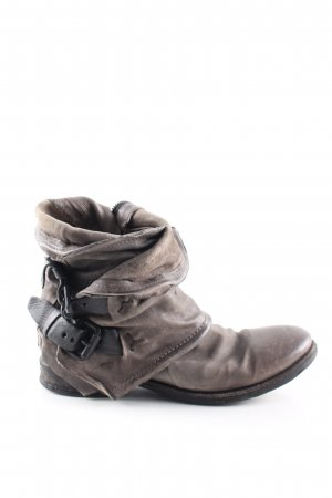 Air Step Zipper Booties brown casual look