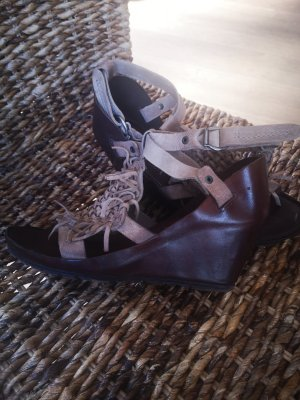 Air Step Wedge Sandals bronze-colored-light brown