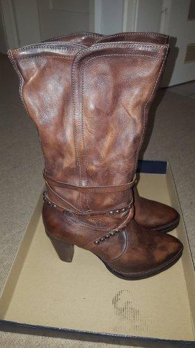 Air Step Hoge laarzen zwart bruin Leer