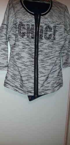 Airfield Short Jacket black-silver-colored cotton