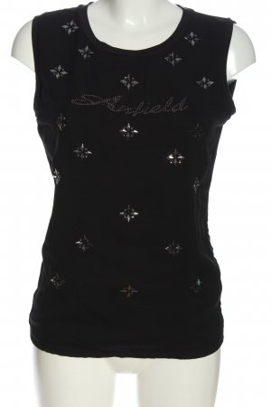 Airfield Sleeveless Blouse black abstract pattern casual look