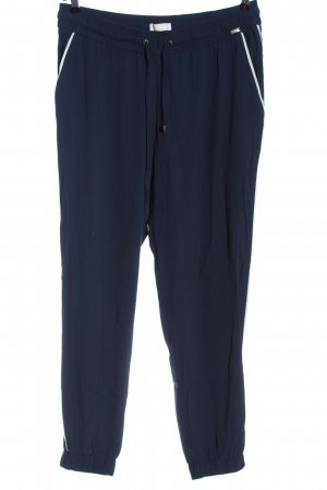 Airfield Pantalon «Baggy» bleu-blanc style décontracté