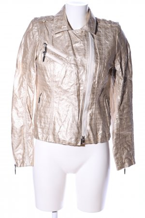 Airfield Bikerjacke goldfarben Glanz-Optik