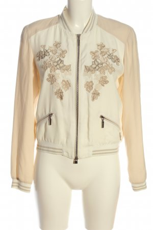 Airfield Blouson cream-white flower pattern casual look