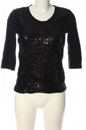 Airfield Blusa brillante negro look casual