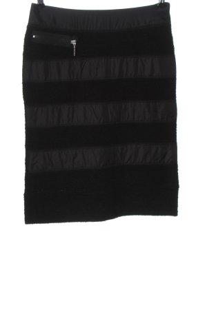 Airfield Midi Skirt black striped pattern casual look