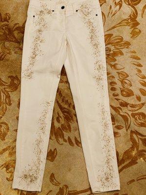 Airfield Jeans elasticizzati bianco-oro