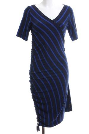 Airfield Jerseykleid blau-schwarz Streifenmuster Casual-Look
