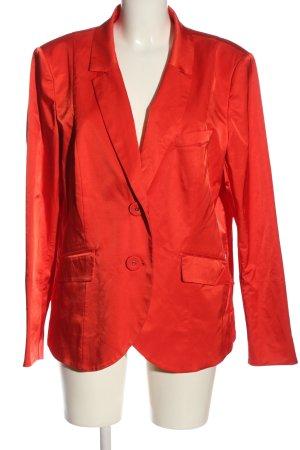 Airfield Klassischer Blazer rood zakelijke stijl