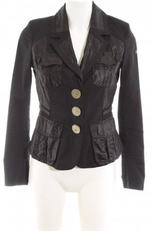 Airfield Kurz-Blazer schwarz Casual-Look