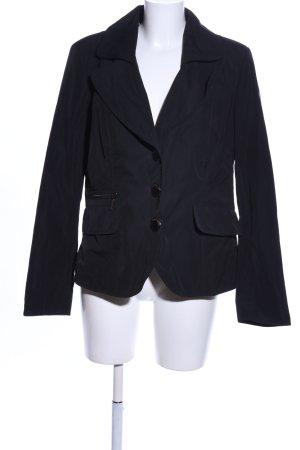 Airfield Korte blazer zwart klassieke stijl