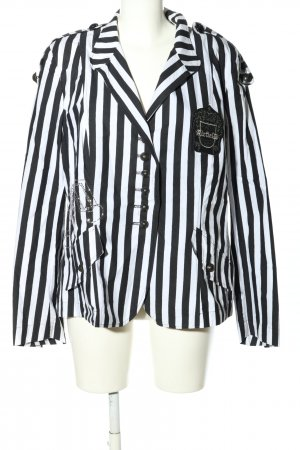 Airfield Short Blazer white-black striped pattern casual look