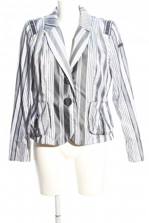 Airfield Short Blazer light grey-white striped pattern casual look