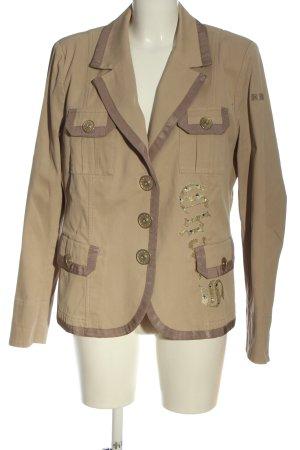 Airfield Korte blazer bruin-room casual uitstraling