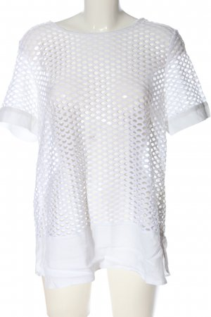 Airfield Short Sleeved Blouse white casual look