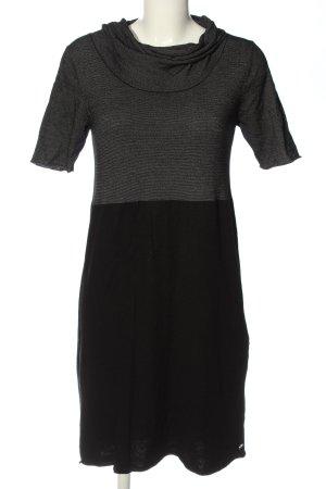 Airfield Sukienka z krótkim rękawem czarny-jasnoszary Wzór w paski