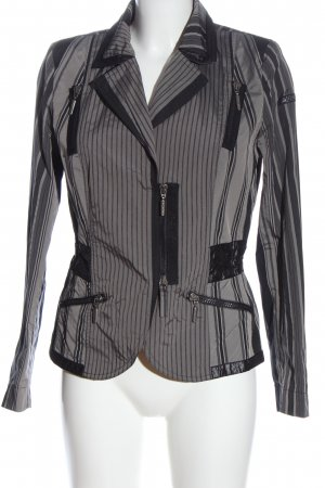 Airfield Short Jacket light grey-black striped pattern elegant