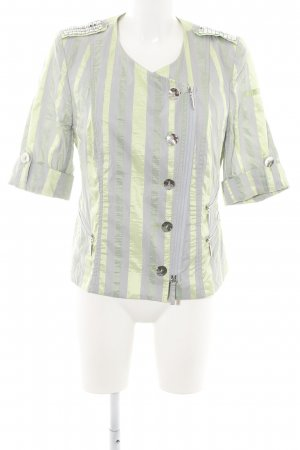 Airfield Short Jacket green-light grey striped pattern casual look