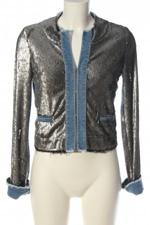 Airfield Giacca corta blu-argento stile casual