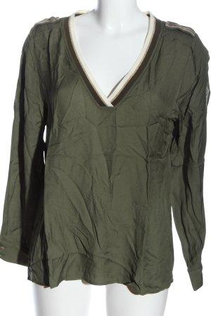 Airfield Bluzka z długim rękawem khaki W stylu casual